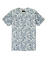 Label J Textured Floral Print T-Shirt L