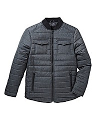 Label J Quilted Marl Nylon Jacket R