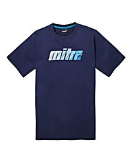 Mitre Navy Graphic T-Shirt Long