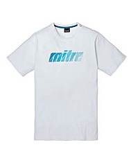 Mitre White Graphic T-Shirt Long