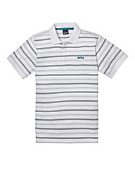 Mitre White Stripe Polo Long