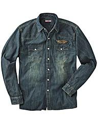 Joe Brown Denim Shirt With Badges Long