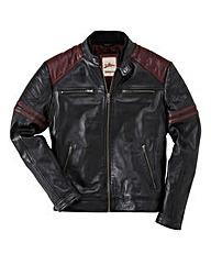 Joe Browns Leather Burn Out Biker Jacket