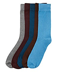 Southbay Pack of Five Soft Top Socks