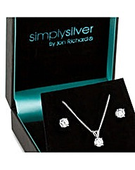 Sterling silver pendant necklace set