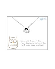 Sterling Silver Owl Charm Necklace