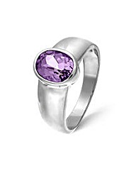 Sterling Silver 1.75Ct Amethyst Ring