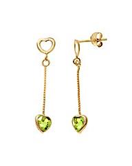 9ct Gold 1Ct Peridot Earrings
