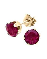9ct Gold 1Ct Garnet Earrings