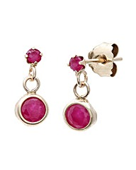 9ct Gold 0.26Ct Ruby Earrings