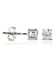 9ct White Gold 0.33Ct Diamond Earrings