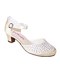 Sparkle Club Ivory Satin Shoes