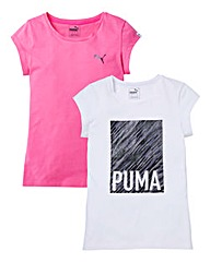 Puma Girls Tee 2-Pack