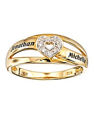 Precious Sentiments 9 Carat Gold Ring