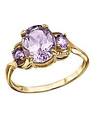 9 Carat Gold Pink Amethyst Ring