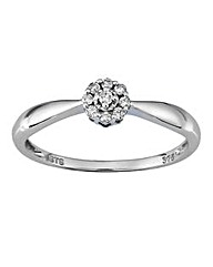 9 Carat 1/10th Carat Diamond Ring