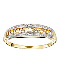 9 Carat Gold Diamond Set Family Ring