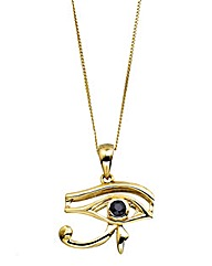 9ct Gold Sapphire Eye of Horus Pendant