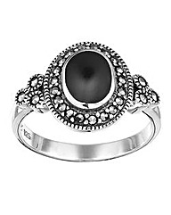 W.Hamond Silver and Marcasite Ring
