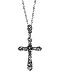 W.Hamond Marcasite Cross Pendant