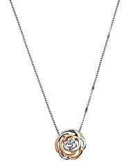 Hot Diamonds Rose-shaped Pendant