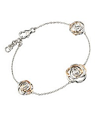Hot Diamonds Rose-shaped Bracelet