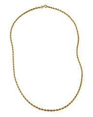 9 Carat Gold Hollow Rope Chain