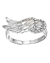 Crystal Glitz Silver Wings Ring
