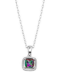 Sterling Silver and Mystic Topaz Pendant