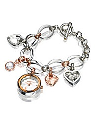Lipsy Ladies Heart Charm Watch