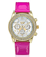 Golddigga Ladies Large Dial Watch