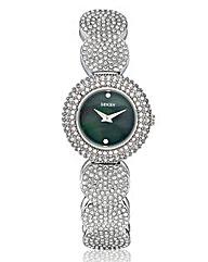 Seksy Ladies Round Glitzy Bracelet Watch