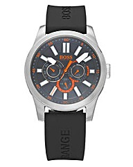 BOSS Orange Black Silicon Strap Watch