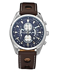 Accurist Gents Cut-out Strap Watch