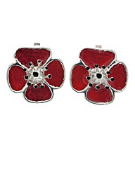 Poppy Clip Earrings