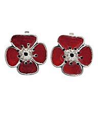 Poppy Clip Earrings
