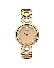 Seksy Gold-tone Ladies Watch