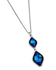 Jon Richard Ladies Blue Crystal Pendant