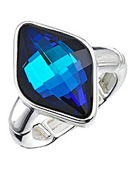 Jon Richard Ladies Blue Crystal Ring