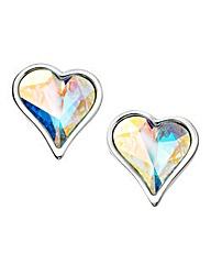 Jon Richard AB Crystal Heart Earrings