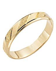 9 Carat Gold Detailed Wedding Ring