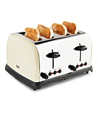 JDW 4 Slice Toaster Cream