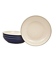 Denby 4 Piece Pasta Bowl Set Royal Blue