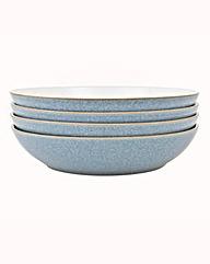 Denby Elements set of 4 Pasta Bowls