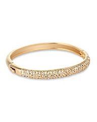 Jon Richard Crystal Gold Dome Bangle