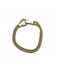 Gold Plated Two Strand Beaded Bracelet
