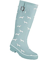 Brakeburn Blue Sausage Dog Welly