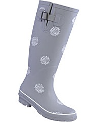 Brakeburn Grey Polka Welly