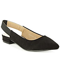 Hapsford Black Sling Back Pointed Pump