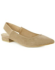 Hapsford Beige Sling Back Pointed Pump